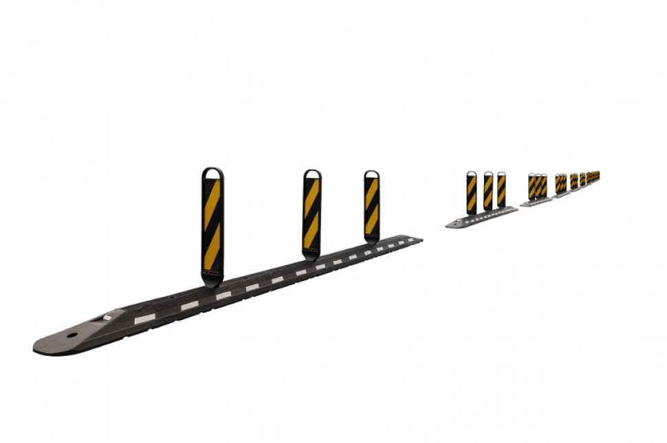 Vanguard Flexible Interlocking Traffic Separator System 9