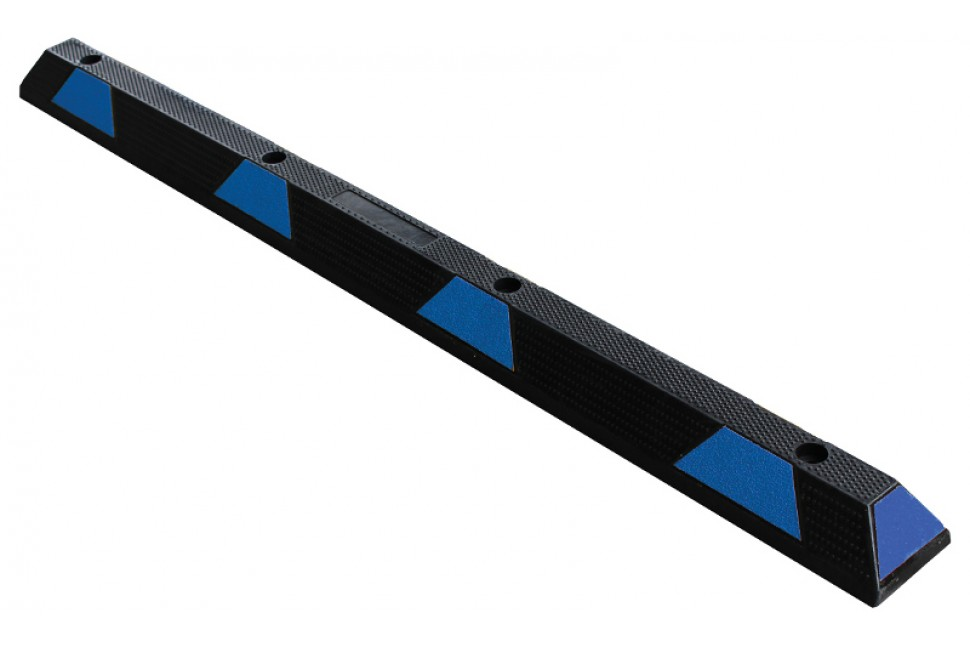 Vanguard Recycled Rubber Wheel Stop 1830mm long Black Blue