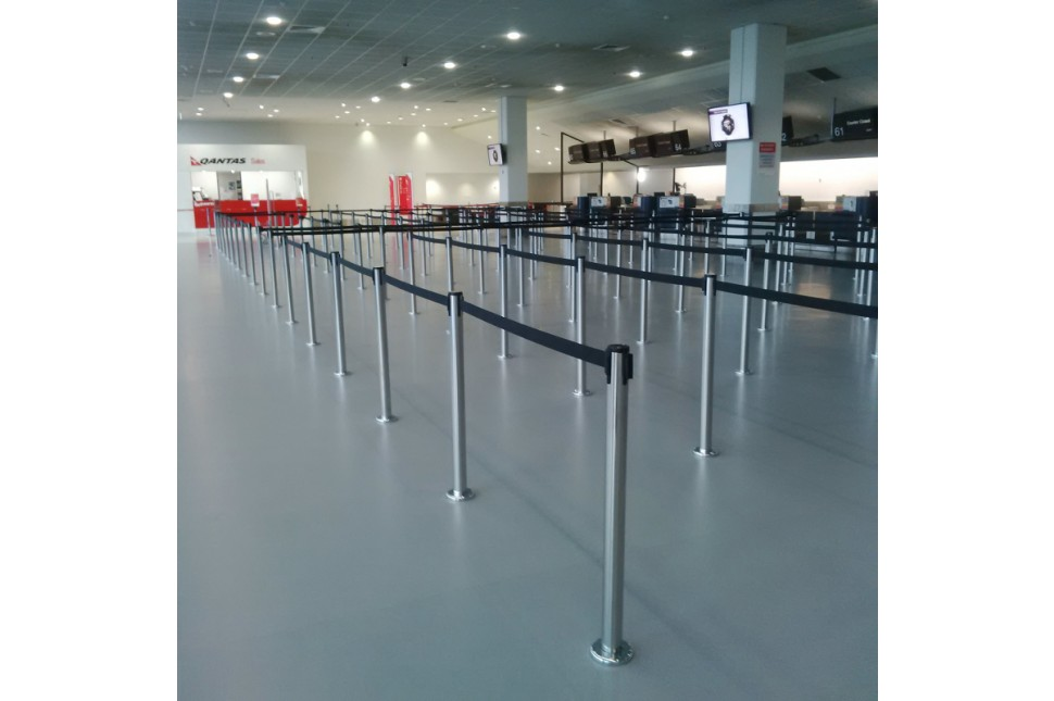 Fixed Queuing Stanchion