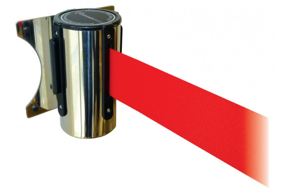 wall mount retractable belt barrier