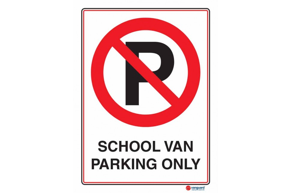 6115 School Van Parking Only