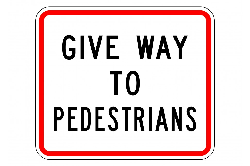 Sign Give Way To Pedestrians 187 Vanguard