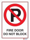6114 Fire Door Do Not Block