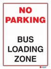 6122 No Parking Bus Loading Zone