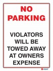 6129 No Parking Violators Will Be Towed Away