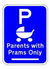 Parents With PRAM Blue2