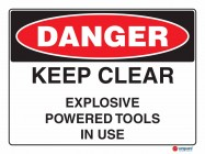 1028 Keep Clear Explosive Powered Tools In Use