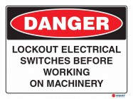 1090 Lockout Electrical Switches Before Working