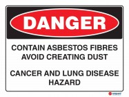 1128 Contains Asbestos Dust And Fibres