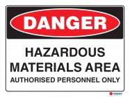 1139 Hazardous Materials Area Authorised Personnel Only