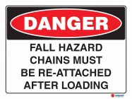 1144 Fall Hazard Chains Must Be Re Attached After Loading