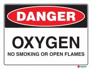 1148 Oxygen No Smoking Or Open Flames