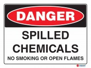 1152 Spilled Chemicals No Smoking Or Open Flames