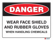 1155 Wear Face Shield And Rubber Gloves