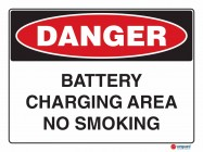 1200 Battery Charging Area No Smoking