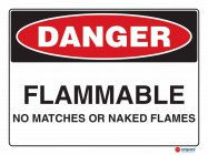 1209 Flammable No Matches Or Naked Flames