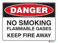 1214 No Smoking Flammable Gases