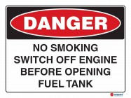 1219 No Smoking Switch Off Engine