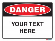 Danger Your Text Here Landscape