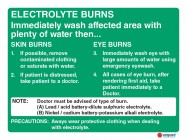 4603 Electrolyte Burns Immediately Wash Affected Area