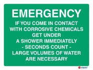 4606 Emergency If You Come In Contact with Corrosive Chemicals