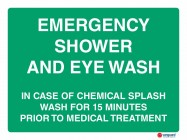 4607 Emergency Shower And Eye Wash In Case