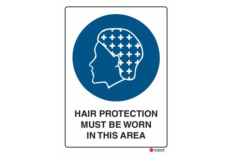 2057 Hair Protection Must Be Worn In This Area