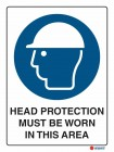 2000 Head Protection Must Be Worn In This Area