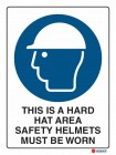 2001 This Is A Hard Hat Area Safety Helmets Must Be Worn