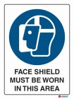 2006 Face Shield Must Be Worn In This Area