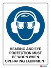 2009 Hearing And Eye Protection Must Be Worn When Operating Equipment