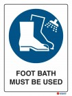 2017 Foot Bath Must Be Used