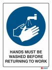 2051 Hands Must Be Washed Before Returning To Work