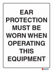 2060 Ear Protection Must Be Worn When Operating This Equipment