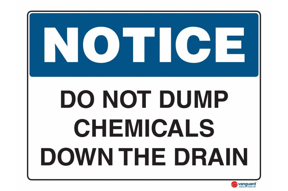 5006 Do Not Dump Chemicals Down The Drain