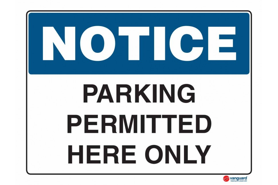 5020 Parking Permitted Here Only