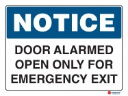 5007 Door Alarmed Open Only For Emergency Exit