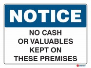 5015 No Cash Or Valuables Kept On Premises