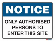 5018 Only Authorised Persons To Enter This Site