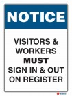 5104 Visitors Workers Must Sign In Out