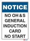 5107 No OHS General Induction Card