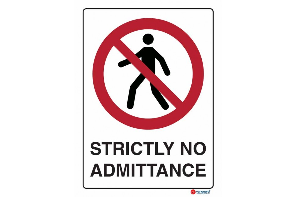 3064 Strictly no Admittance
