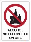 3000 Alcohol Not Permitted On Site