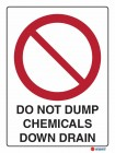 3004 Do Not Dump Chemicals Down Drain