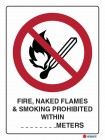 3011 Fire Naked Flames Smoking Prohibeted Within Meters