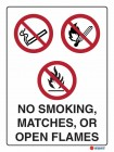 3051 No Smoking Matches or Open Flames