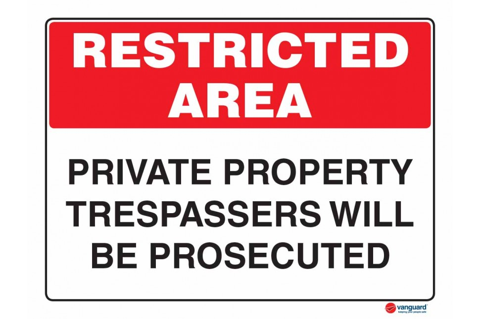 4929 Private Property Trespassers Will Be Prosocuted