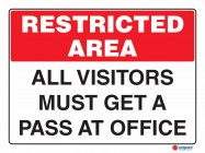4902 All Visitors Must Get A Pass At Office