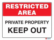 4928 Private Property Keep Out