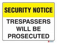 5401 Trespassers Will Be Prosecuted